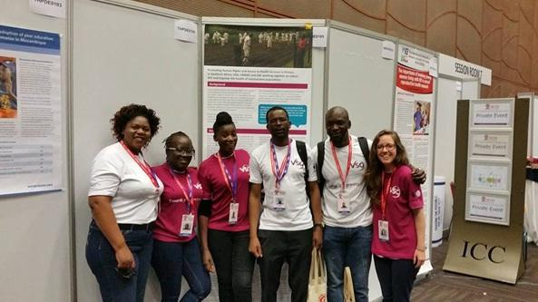 The VSO team at the 2016 International AIDS Conference.