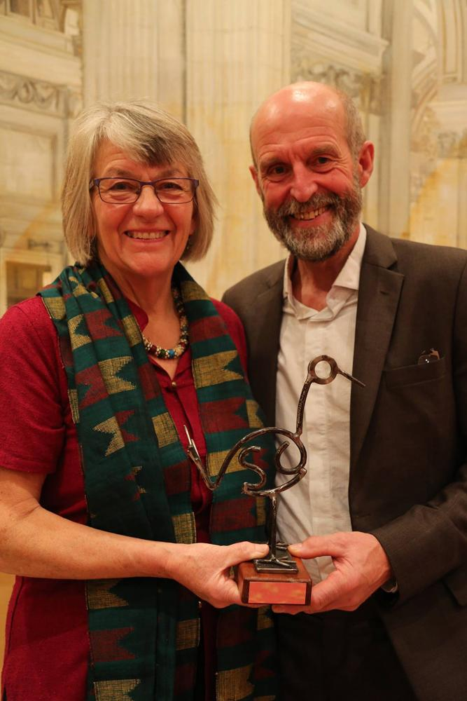 Judith and Simon Hill won the International Volunteer Award, for their work in Nepal.