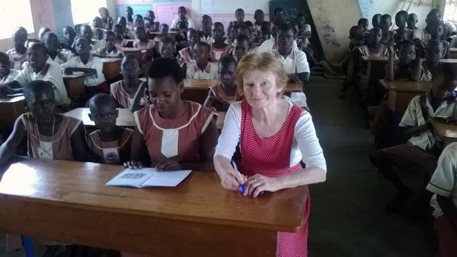 VSO volunteer researching attitudes towards girls' education in northern Ghana