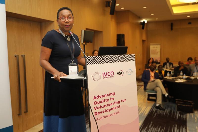 Alicia Herbert speaking at IVCO 2019