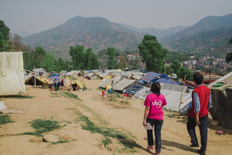 Camp at Dhading Nepal following Nepal earthquakes