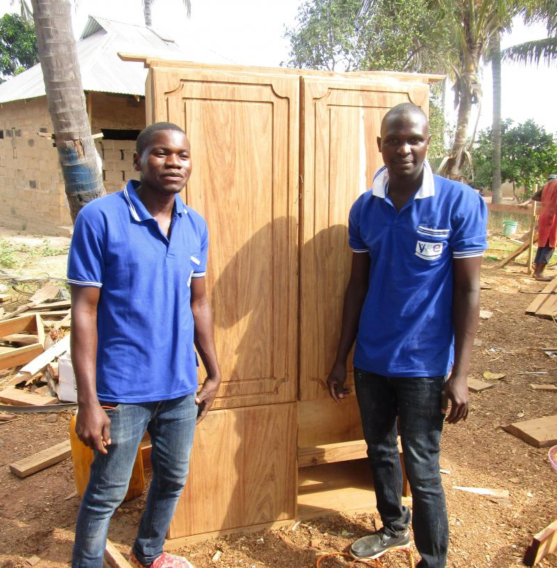 Faki is now well-known as an excellent carpenter