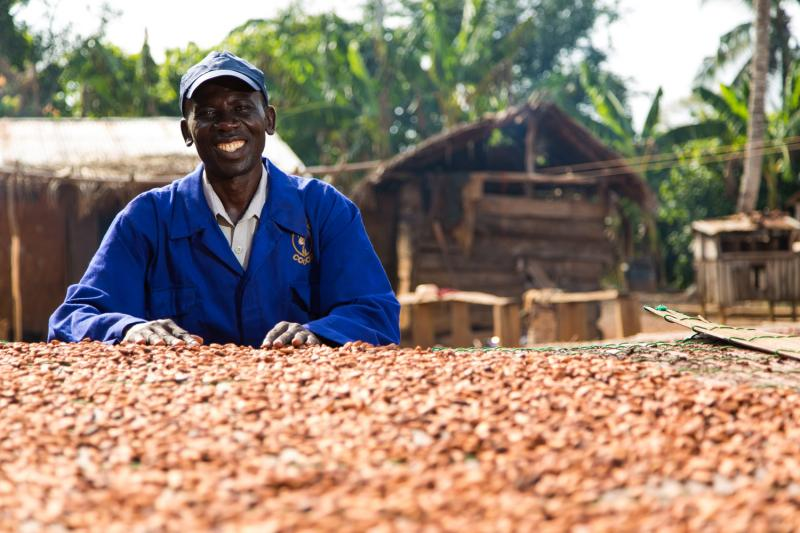 Nana is a Cocoa Farmer whose community has been helped by the Cocoa Life Partnership. His community is situated near Asamankese in Ghana.