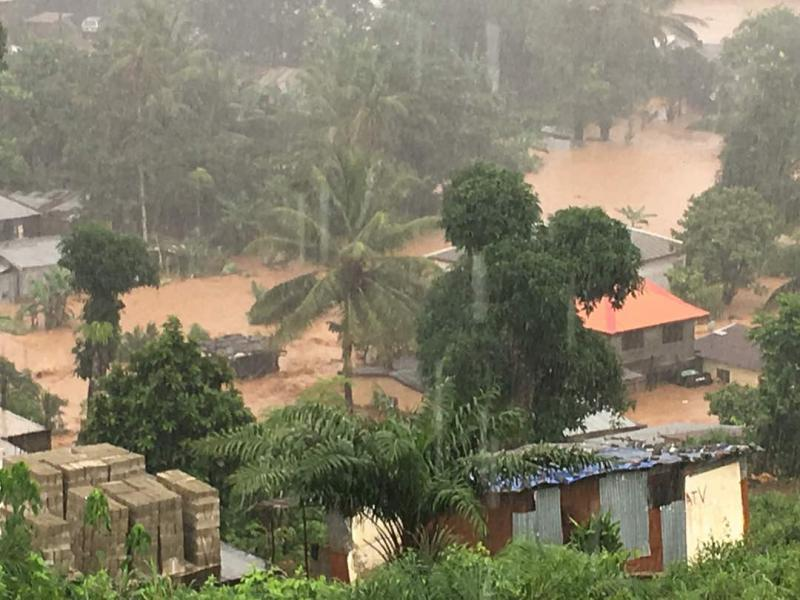 Heavy rain in Sierra Leone