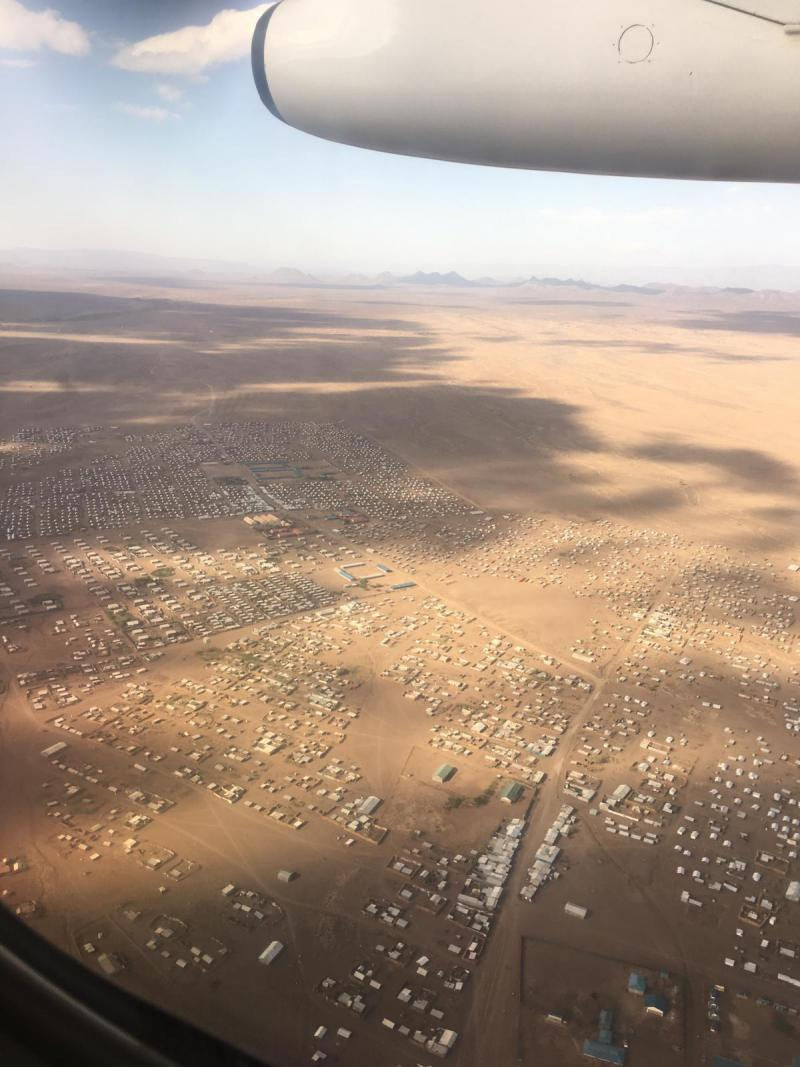 Kakuma refugee camp seen from above.