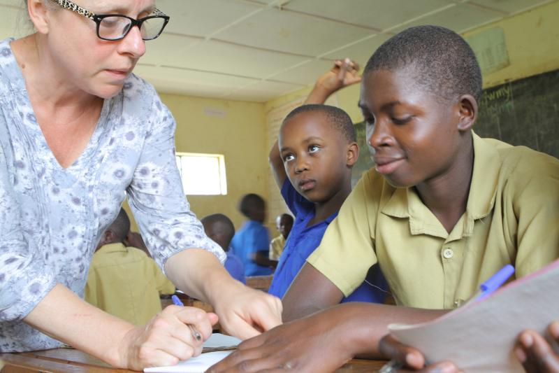 Jo Doyne volunteered in Rwanda supporting training of special needs teachers