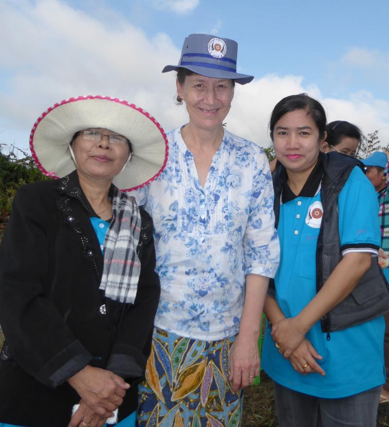 Gwen Harris on her education placement in Myanmar with staff from the Ministry of Education
