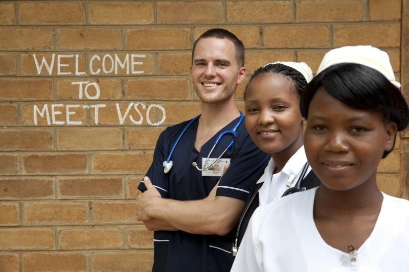 David Atherton, THET programme VSO volunteer at work in St Lukes Hospital, Zomba district, Malawi.