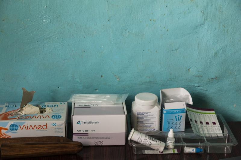 Materials that are used to test for HIV