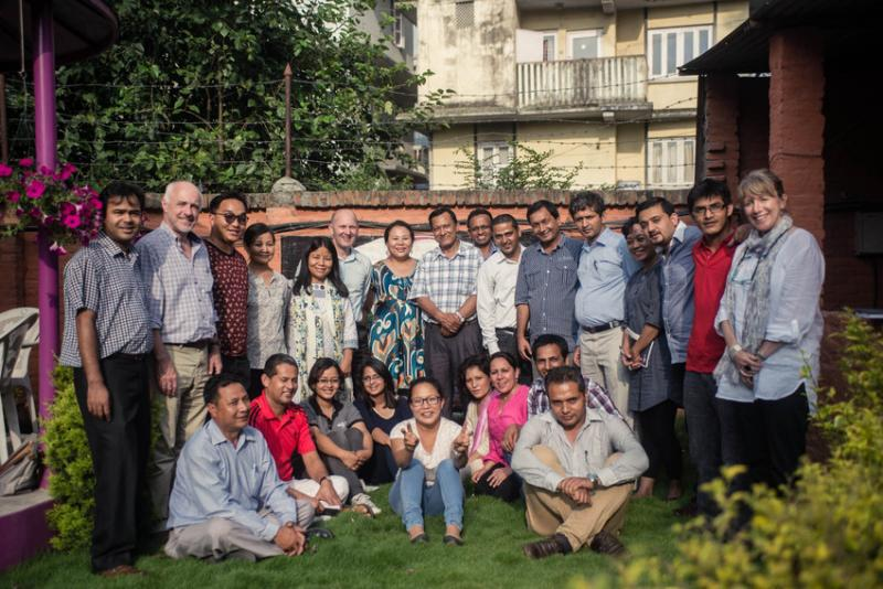 CEO Philip Goodwin and VSO Nepal team