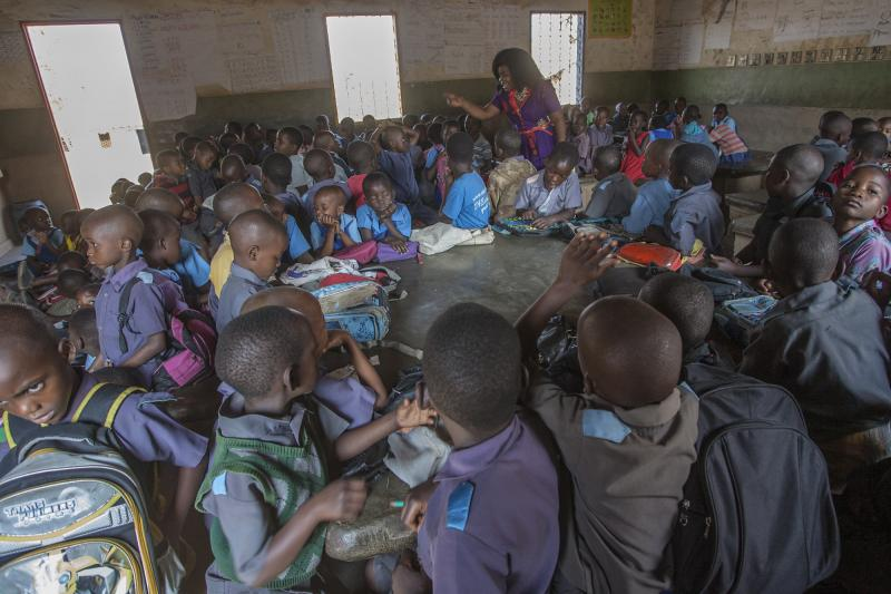 Huge class sizes in Malawi
