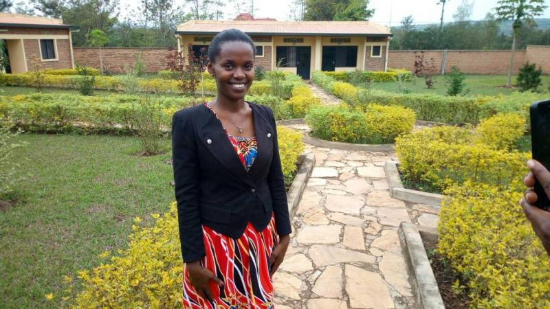 Brown Niyonsaba trained as a sign language instructor before volunteering at Umutara Deaf School.