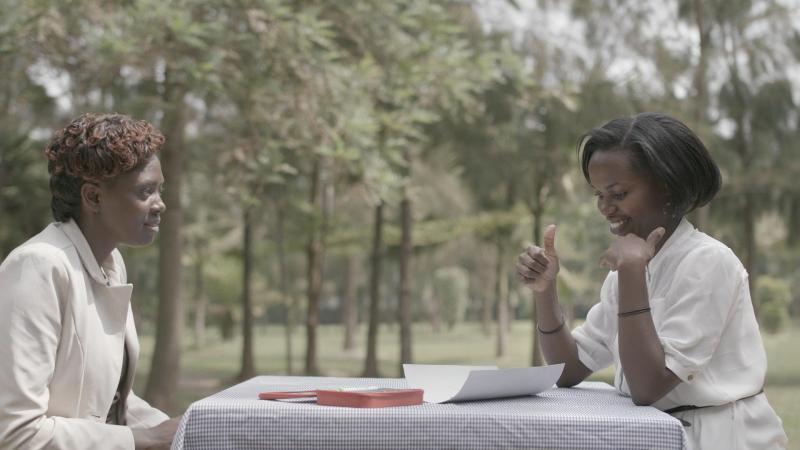 Brown Niyonsaba is training healthcare workers and nurses in Rwandan Sign Language