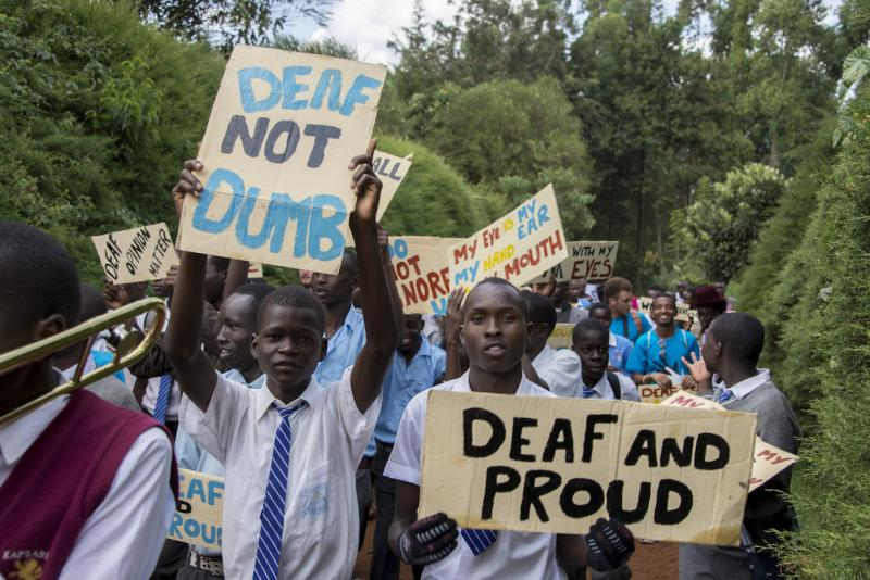 March for deaf rights in Kenya | VSO ICS
