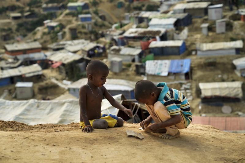 Rohingya children in the refugee camps