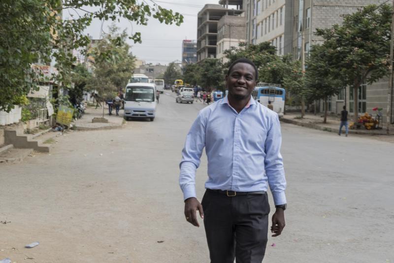 Volunteer researcher Bernard Mbwele