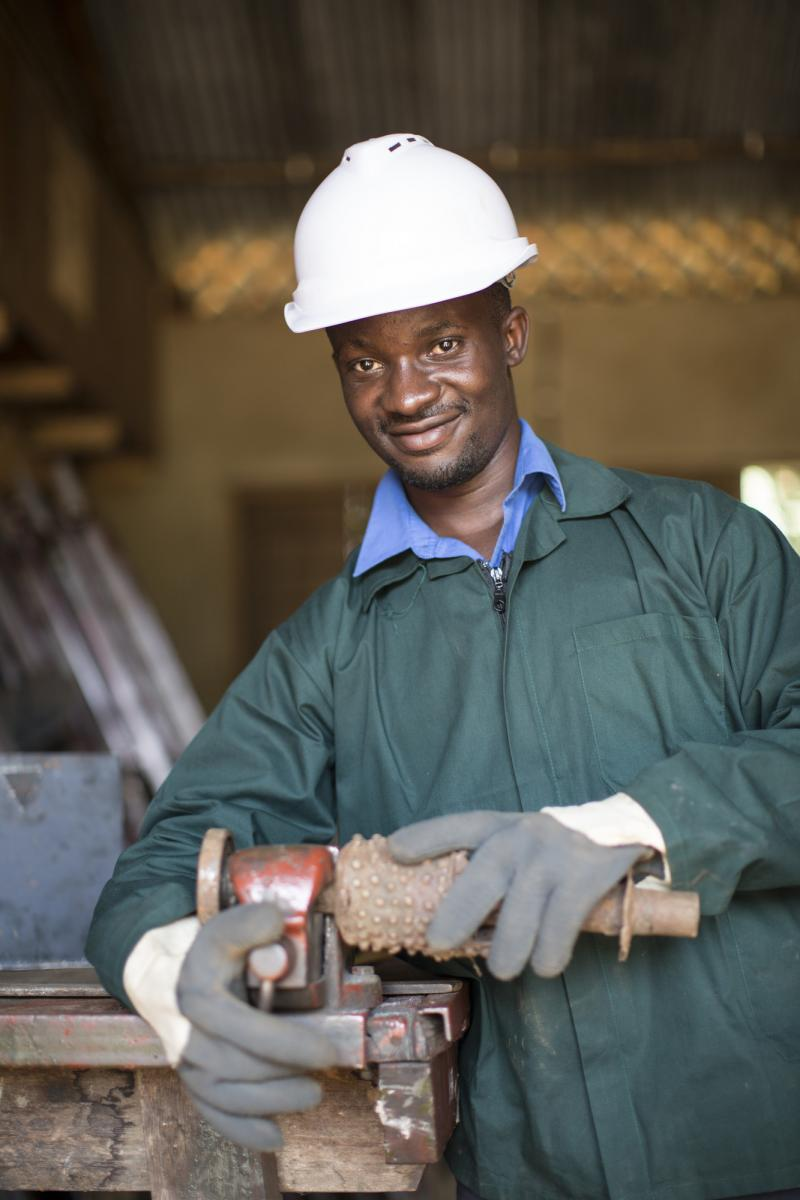 Whychliffe Rutalemwa, 25, is a VSO supported welding instructor from Uganda.
