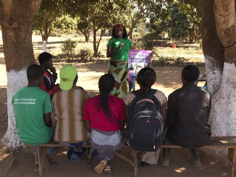 Community volunteers in Mozambique