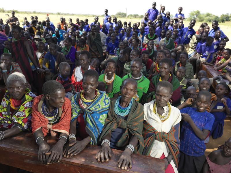Mothers attending a parent-teacher meeting.