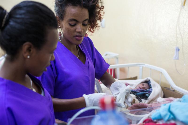 Rahel Beyan is one of the nurses in Tigray, Ethiopia helping to improve conditions for mothers and newborns at Suhul Hospital.jpg