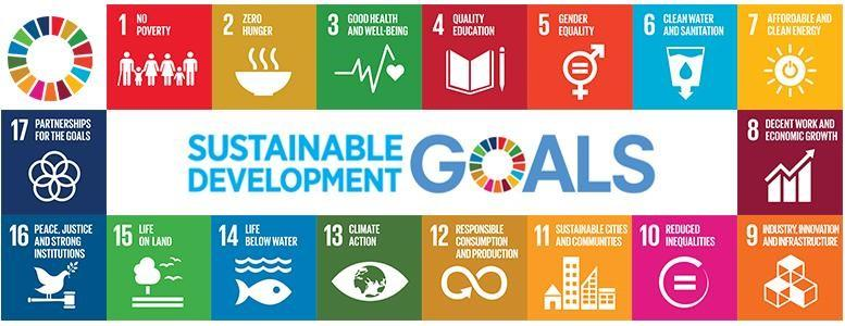These are the 17 Sustainable Development Goals, which have been created to tackle the world's biggest problems by 2030.
