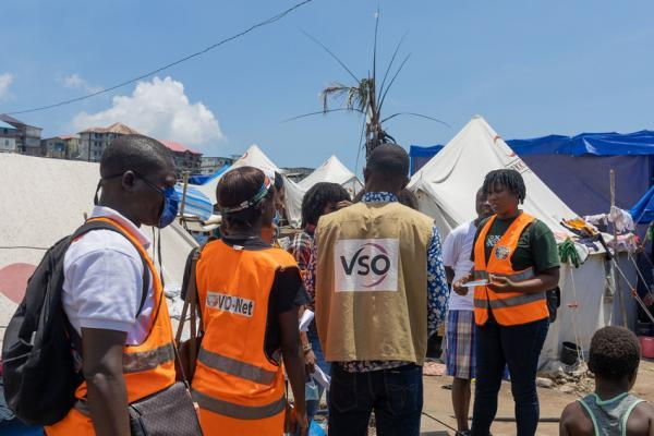 Samuel coordinated a team of volunteers to access the needs of the community.