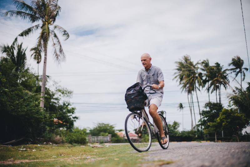 Wim Lancsweert from the Netherlands works as VSO volunteer in Kep, Cambodia