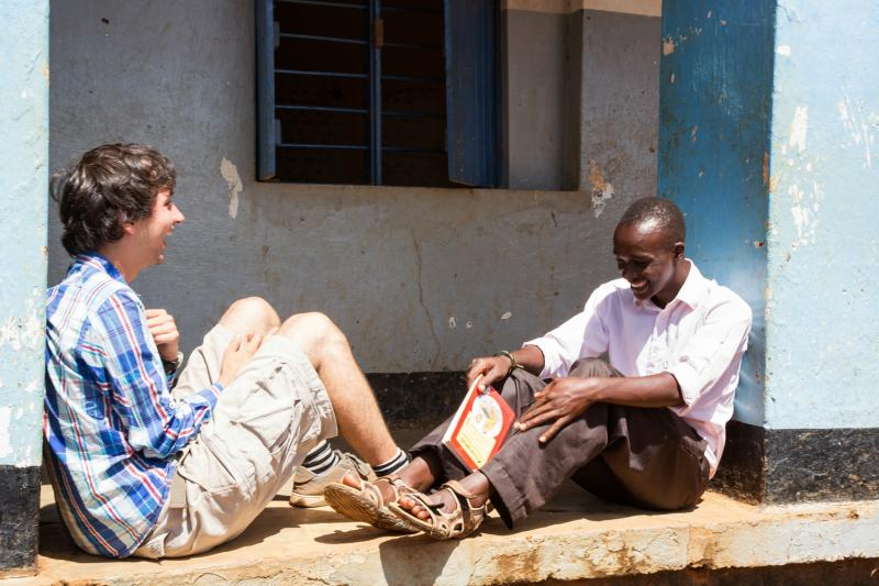 Volunteers make friends all over the world