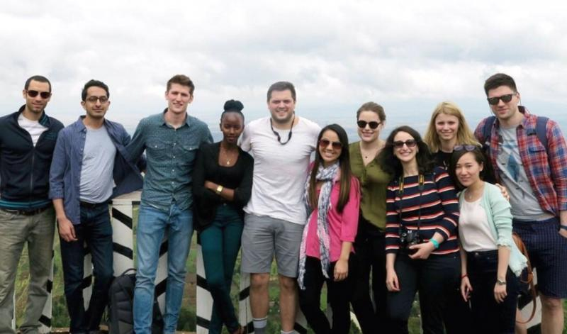 Group of corporate volunteers from Citi in Kenya on VSO Knowledge Exchange programme