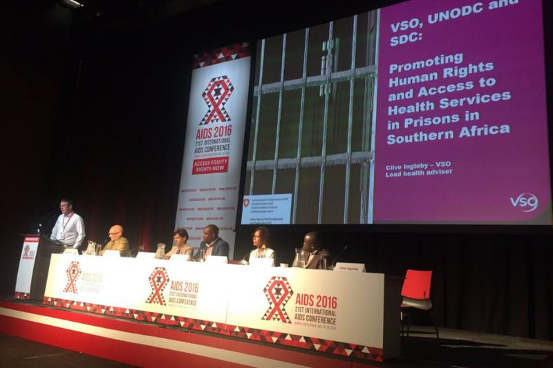 Clive Ingleby, VSO Lead Advisor for Health, at AIDS Conference 2016