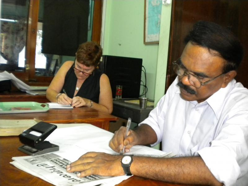 Fiona Barton while volunteering in Sri Lanka