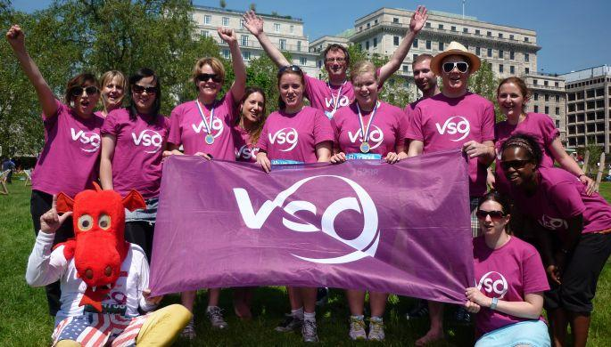VSO university fundraisers celebrate their event