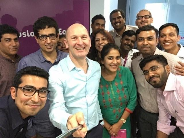 VSO India team with VSO Chief Executive Philip Goodwin