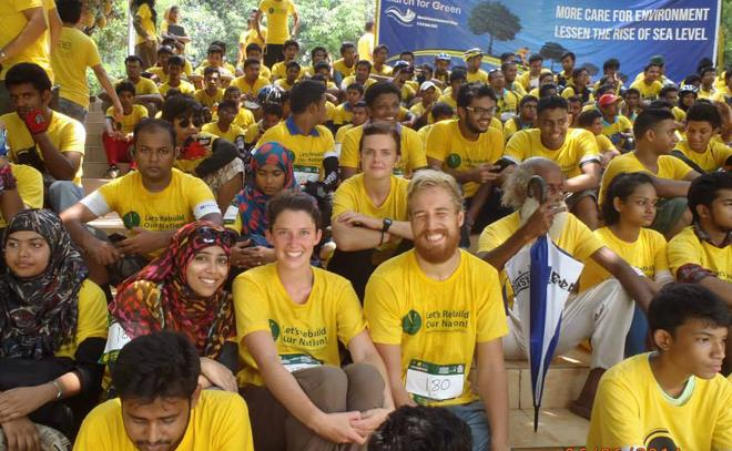 ICS volunteer Sarah Donachie in Bangladesh